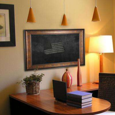 56.75 in. x 32.75 in. Bronze and Black Blackboard/Chalkboard