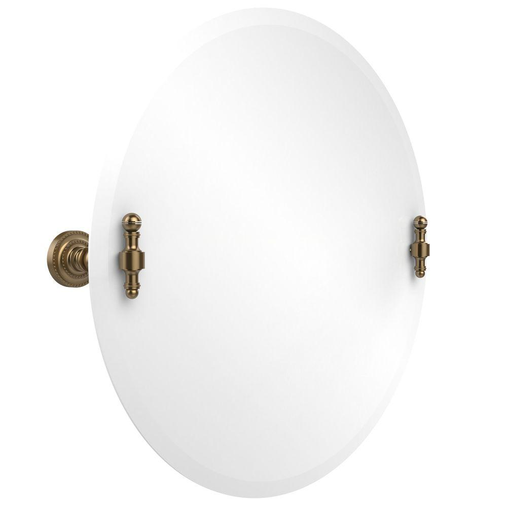 Retro-Dot Collection 22 in. x 22 in. Frameless Round Tilt Mirror