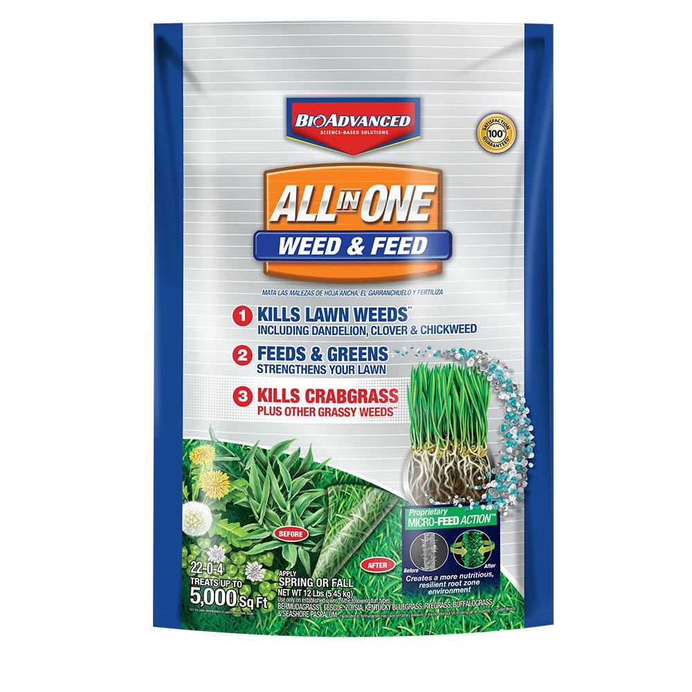 BioAdvanced 12 lbs. All-in-1 Weed and Feed Granules