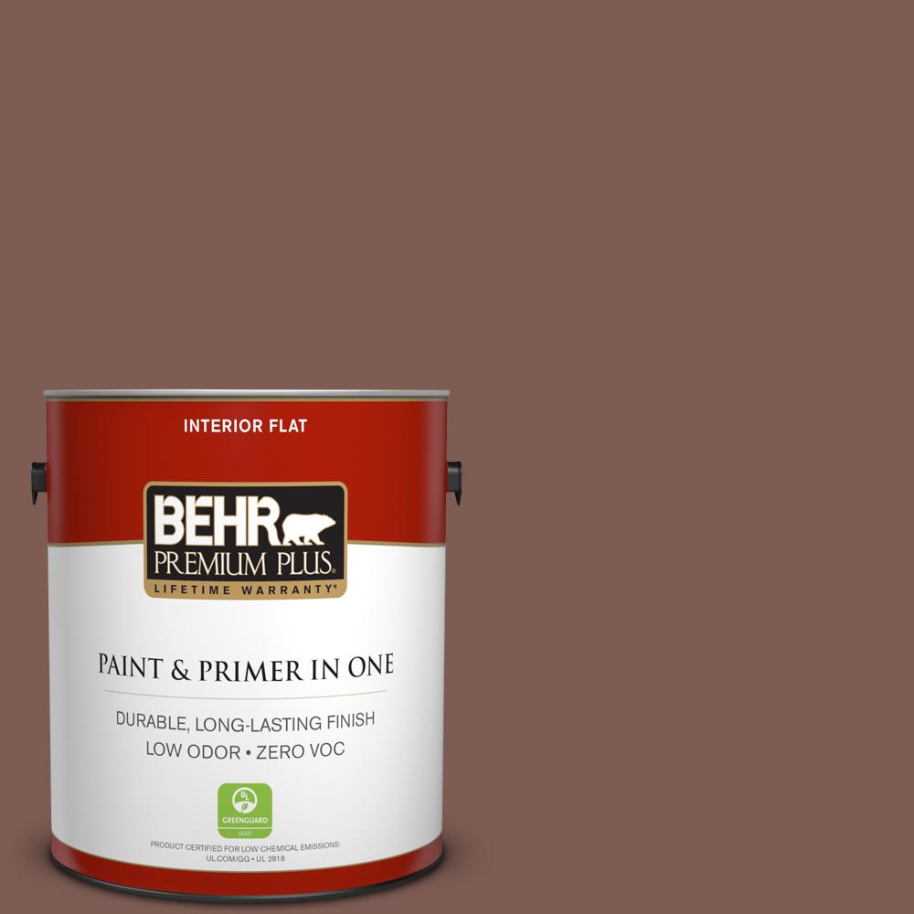 BEHR Premium Plus 1-gal. #N160-6 Spanish Chestnut Flat Interior Paint
