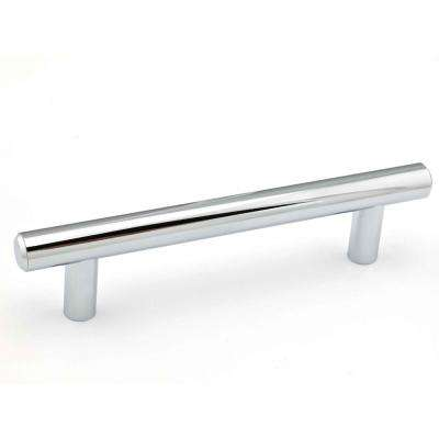 Contemporary 4-1/4 in. (108 mm) Chrome Cabinet Pull