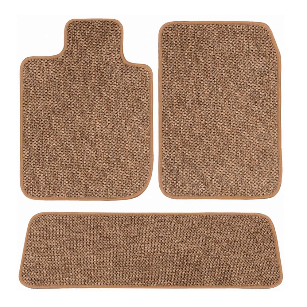 GGBAILEY Tesla Model 3 Beige All-Weather Textile Car Mats, Custom Fit for  2018-2019 - Driver, Passenger and Rear Carpet Car Mat