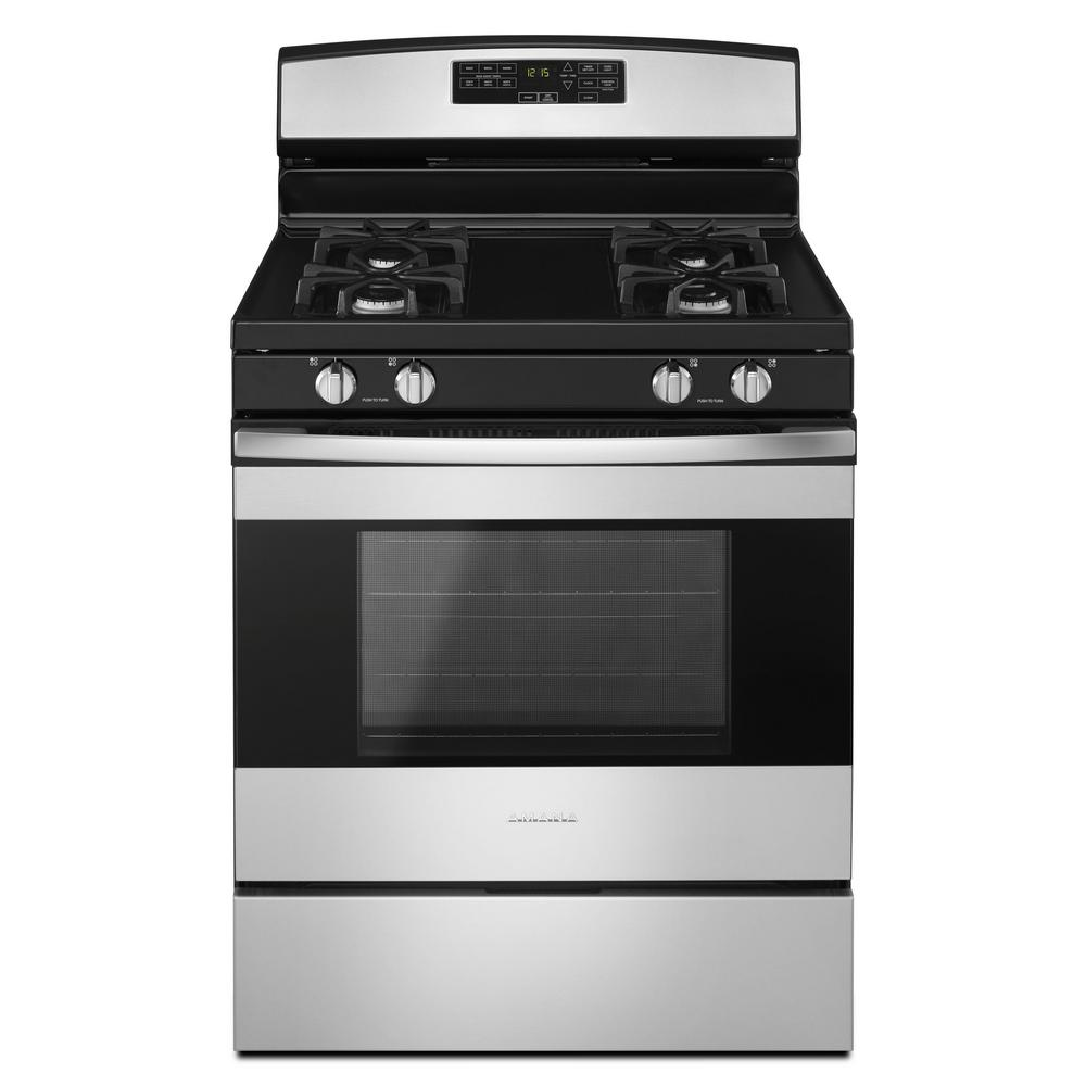Amana 5 0 Cu Ft Gas Range In