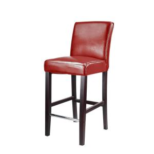 Astounding Corliving Antonio 31 In Red Bonded Leather Bar Stool Dad Alphanode Cool Chair Designs And Ideas Alphanodeonline