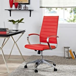lexmod ribbed mid office. Jive Highback Office Chair In Red Lexmod Ribbed Mid N