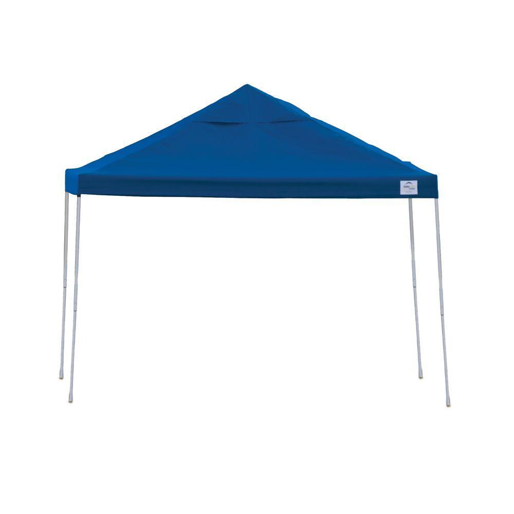 ShelterLogic Pro Series 12 ft. x 12 ft. Blue Straight Leg Pop-Up Canopy