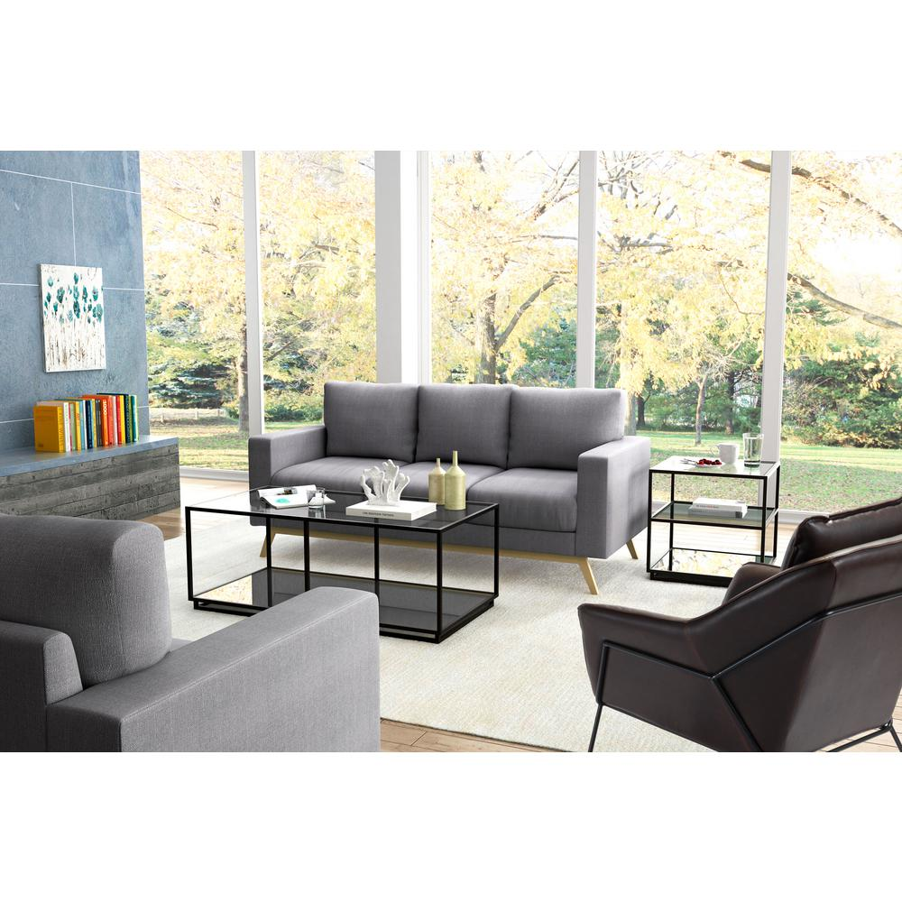 Zuo Kure Distressed Black Coffee Table 100753 The Home Depot