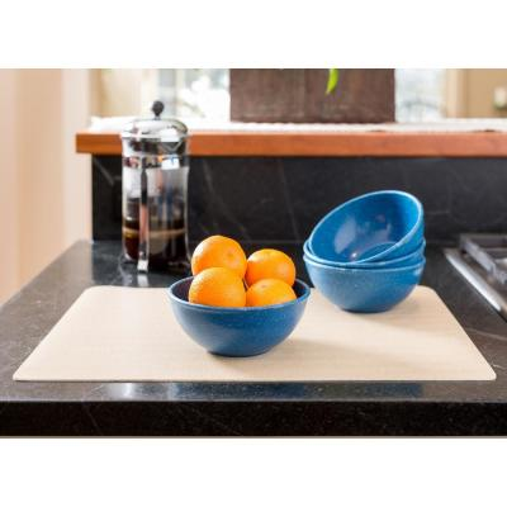 EVO Sustainable 16 oz. Goods Blue Eco-Friendly Wood-Plastic Composite Bowl (Set of 4)