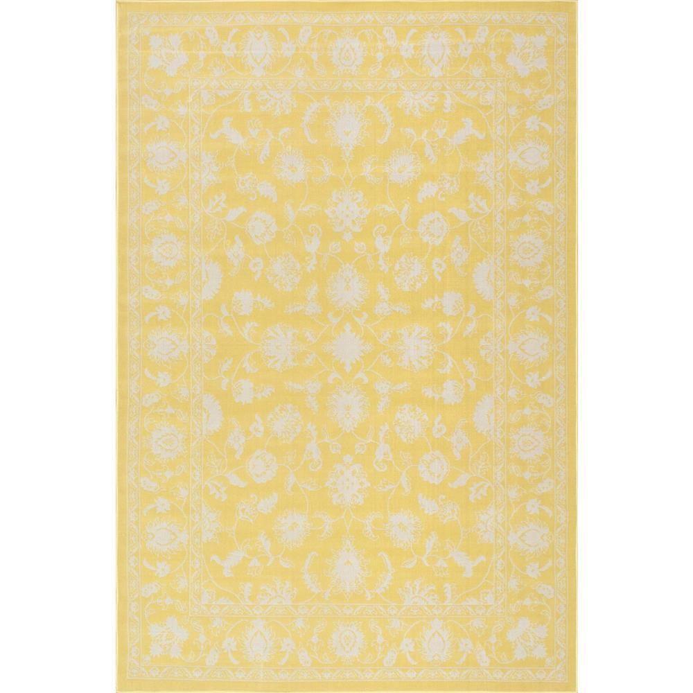 Nuloom Pridgen Yellow 5 Ft X 7 Ft 6 In Indoor Outdoor