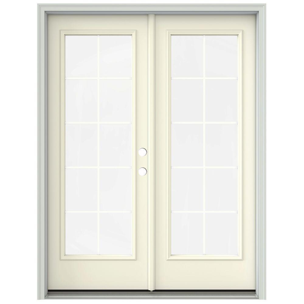 60 in x 80 in french vanilla prehung left hand inswing 10 lite - 60 Patio Door