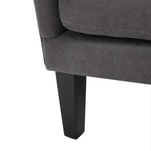Fantastic Noble House Lorenzo Studded Slate Fabric High Back Club Dailytribune Chair Design For Home Dailytribuneorg