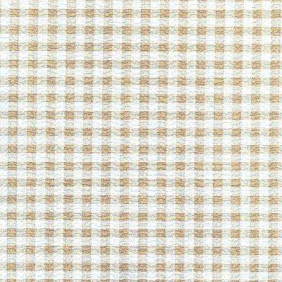 Grip Prints Khaki and White Plaid Shelf and Drawer Liner (Set of 6)