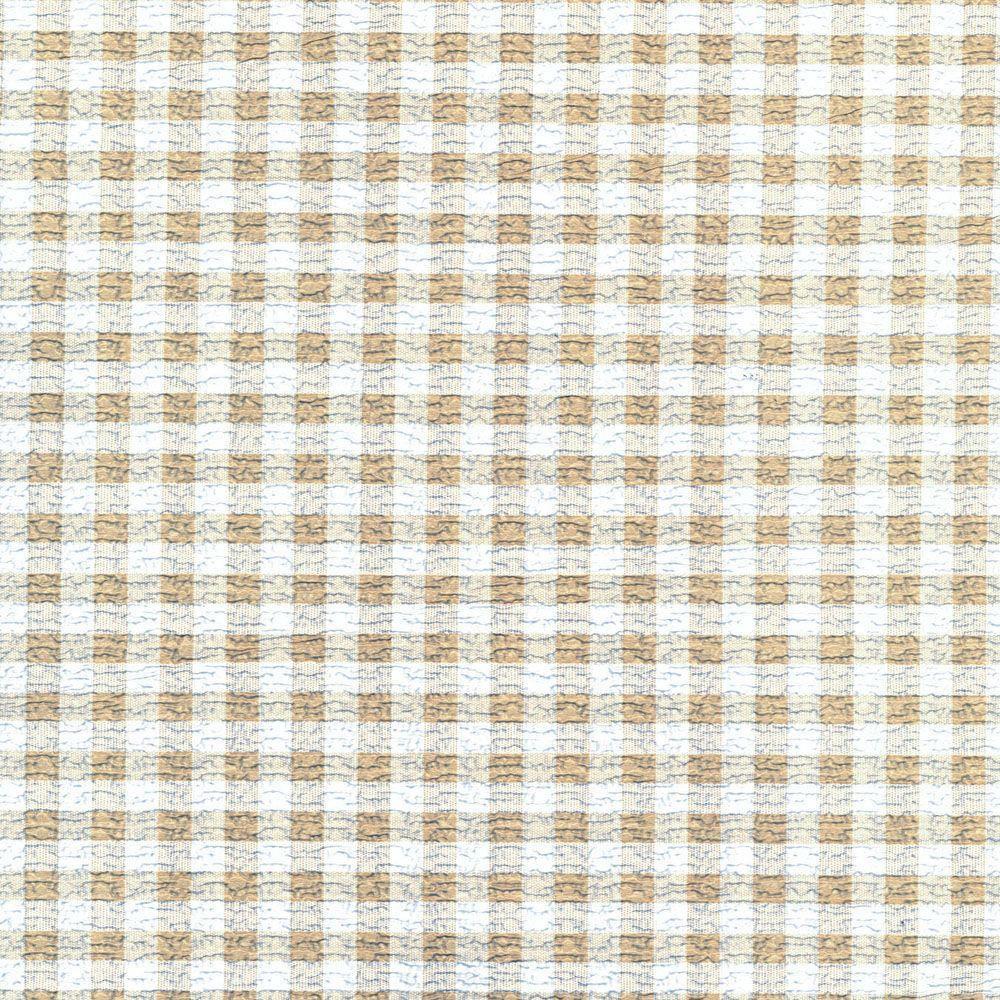 Grip Prints Khaki and White Plaid Shelf and Drawer Liner (Set of 6)