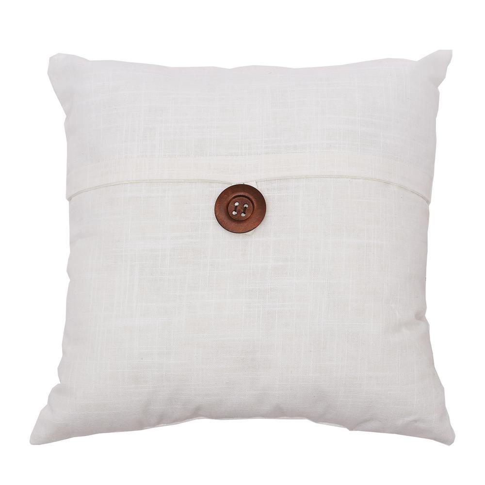 Cream Envelope 18 in. x 18 in. Standard Pillow