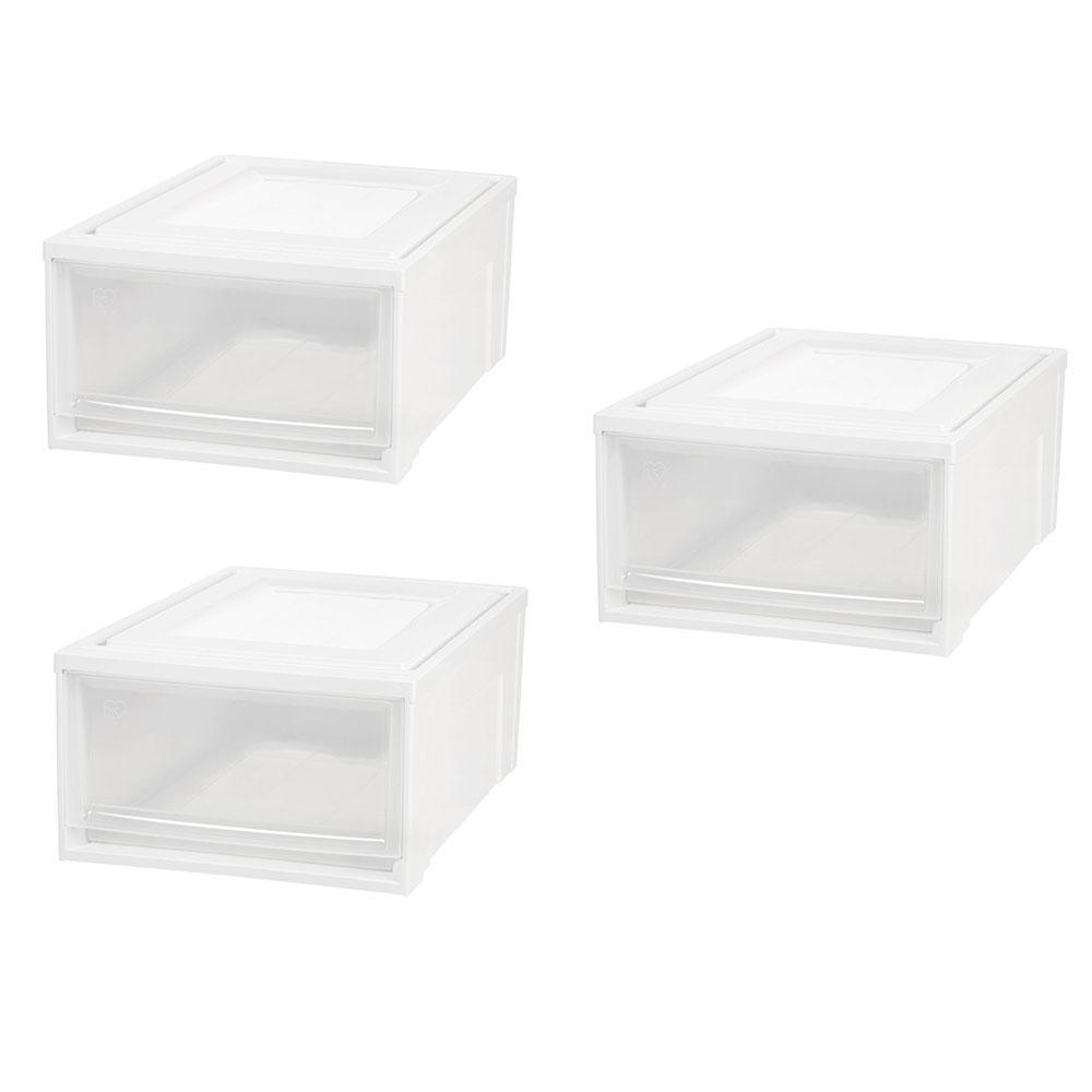IRIS 15.75 in. x 9 in. White Medium Box Chest Drawer (3-Pack)