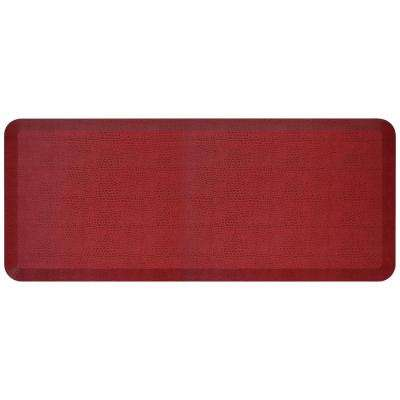 Designer Pebble Pomegranate 20 in. x 48 in. Anti-Fatigue Comfort Kitchen Mat