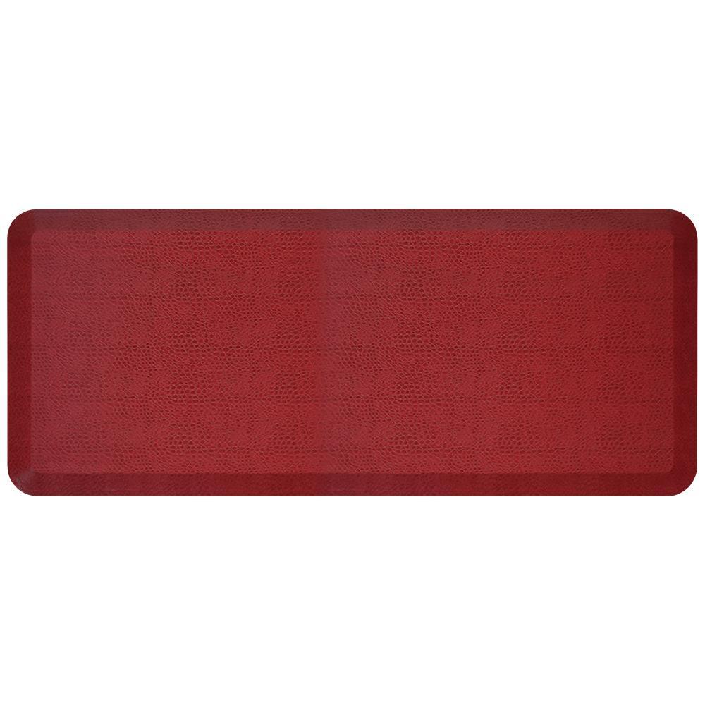 Designer Pebble Pomegranate 20 in. x 48 in. Anti-Fatigue Comfort Kitchen Mat
