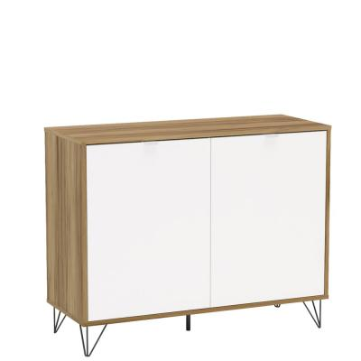 Brentwood Light Brown and White Compact Sideboard