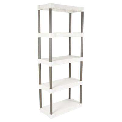 5-Shelf 29 in. W x 13 in. D Heavy Duty Taupe Shelving Units