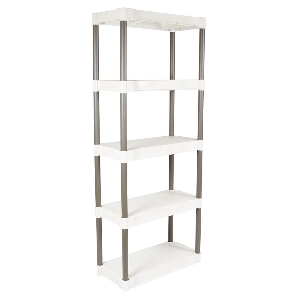 5-Shelf 29 in. W x 13 in. D White Shelving Units