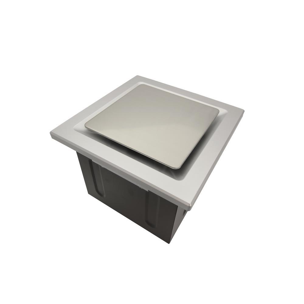 Quiet 110 cfm energy star bathroom ceiling exhaust fan with white quiet 110 cfm energy star bathroom ceiling exhaust fan with white grille aloadofball Images