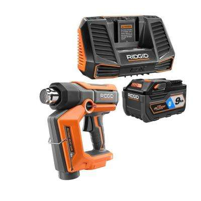 18-Volt Cordless Butane Heat Gun with 18-Volt OCTANE 9.0 Ah Lithium-Ion Battery and Charger Kit