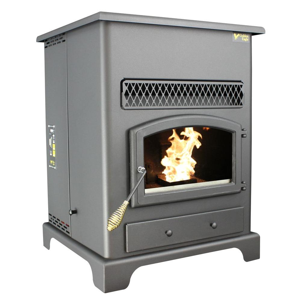 Us Stove 2200 Sq Ft Golden Eagle Pellet Stove With
