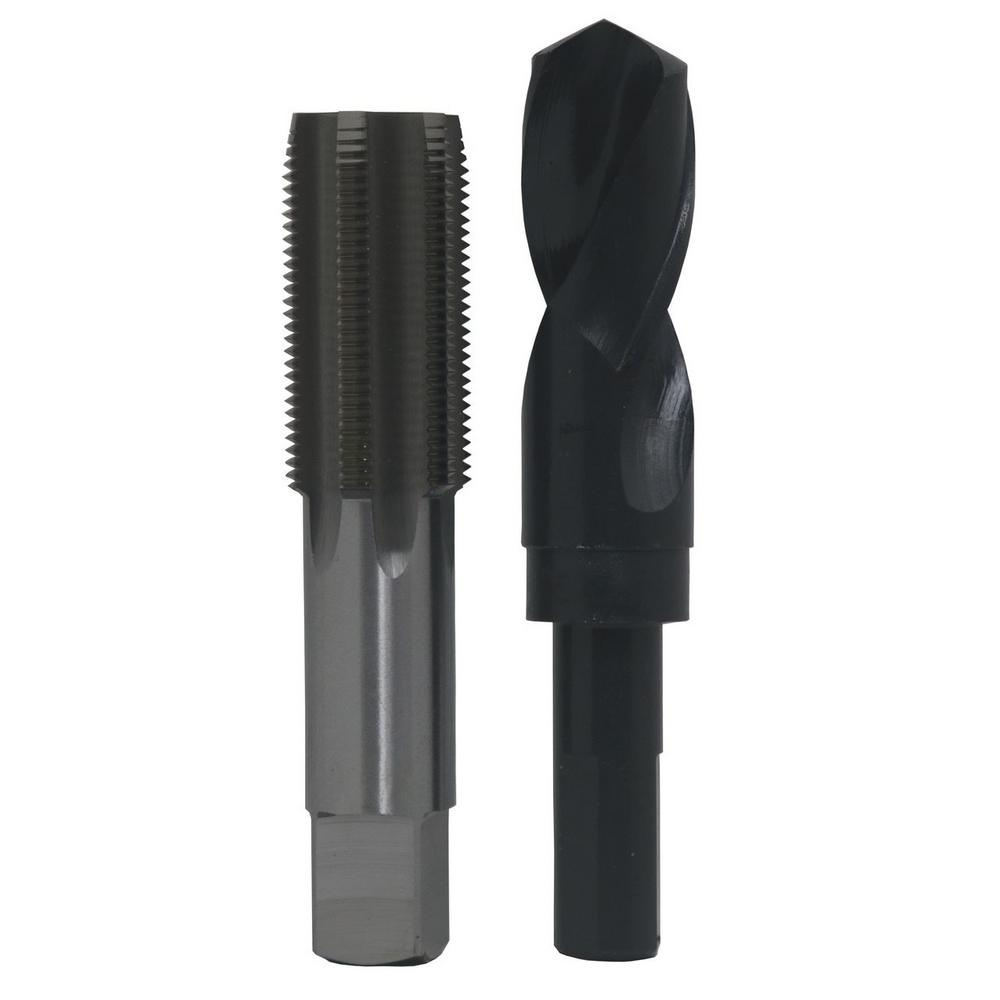 "1//4/""-20 HSS Plug Tap and matching  7 HSS Drill Bit in plastic pouch."