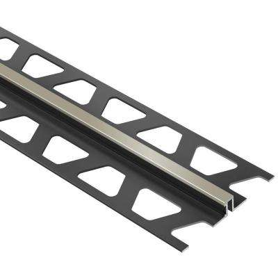 Dilex-BWS Grey 3/8 in. x 8 ft. 2-1/2 in. PVC Movement Joint Tile Edging Trim
