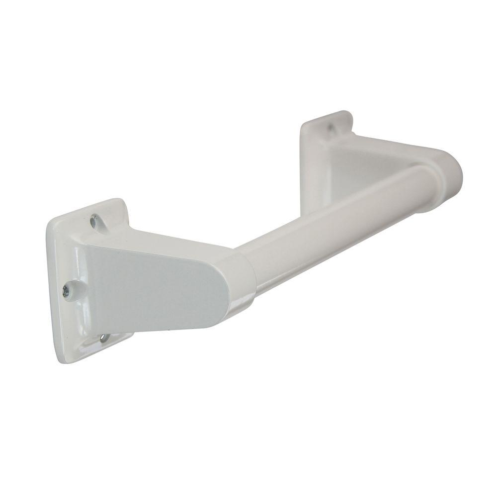 Glacier Bay 9 in. x 7/8 in. Exposed Screw Assist Bar in White.