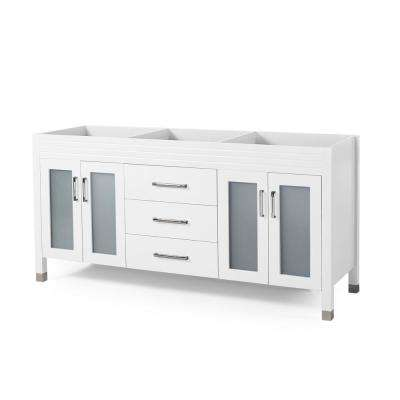 Halston 72 in. W x 22 in. D Bath Vanity Cabinet Only in White