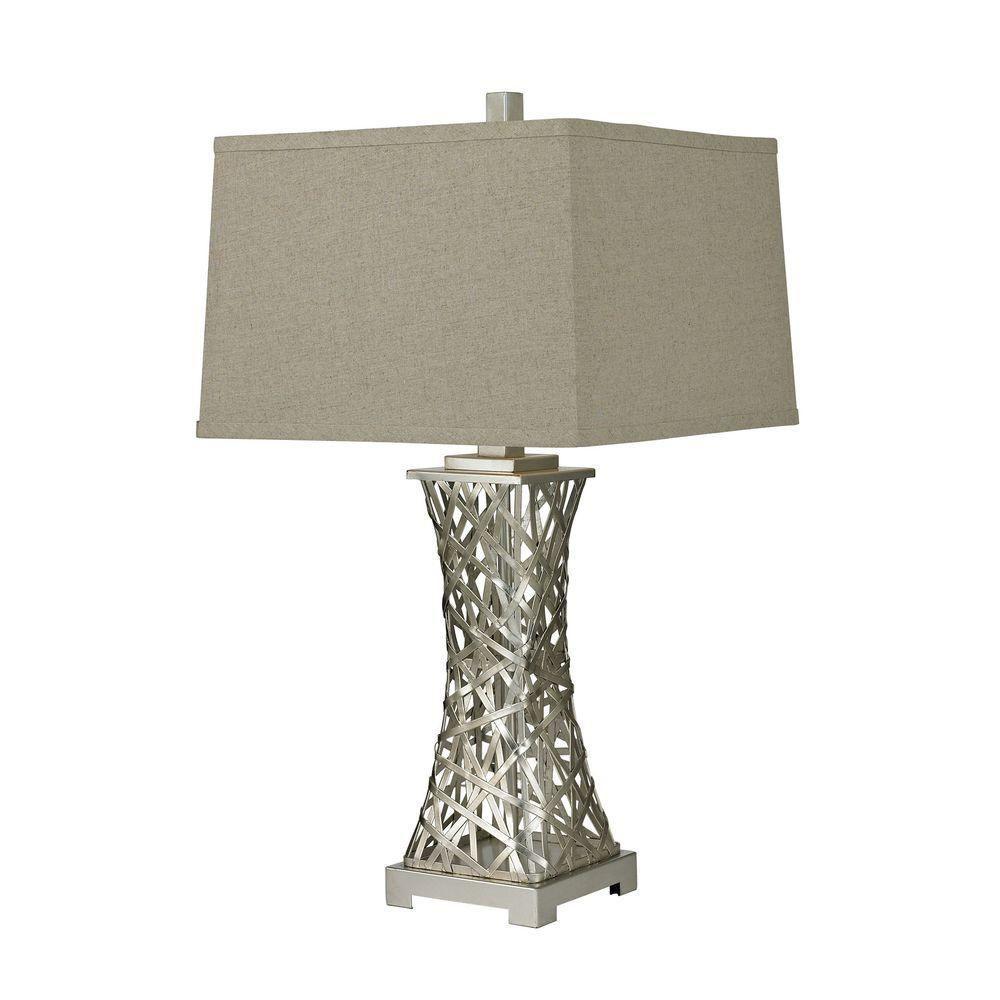 Titan lighting woven metal thread silver leaf table lamp tn 998326 titan lighting woven metal thread silver leaf table lamp aloadofball Choice Image