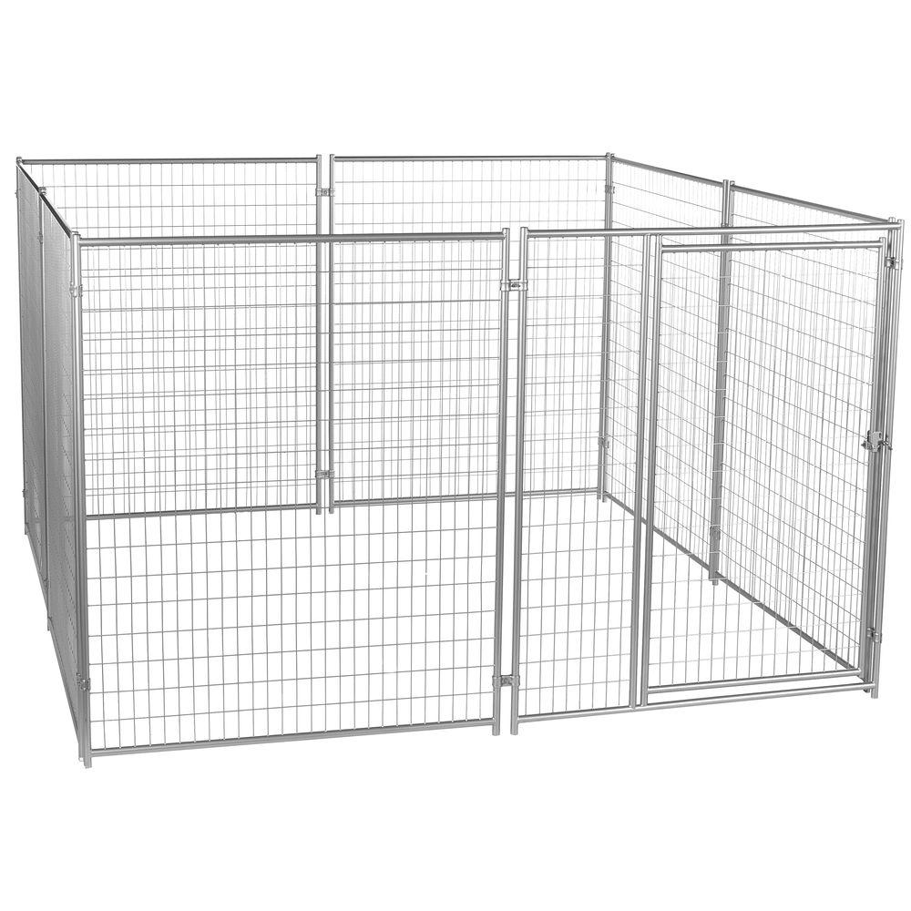Lucky Dog 6 Ft H X 10 Ft W X 10 Ft L Modular Welded Wire Kennel Kit Cl 59150 The Home Depot