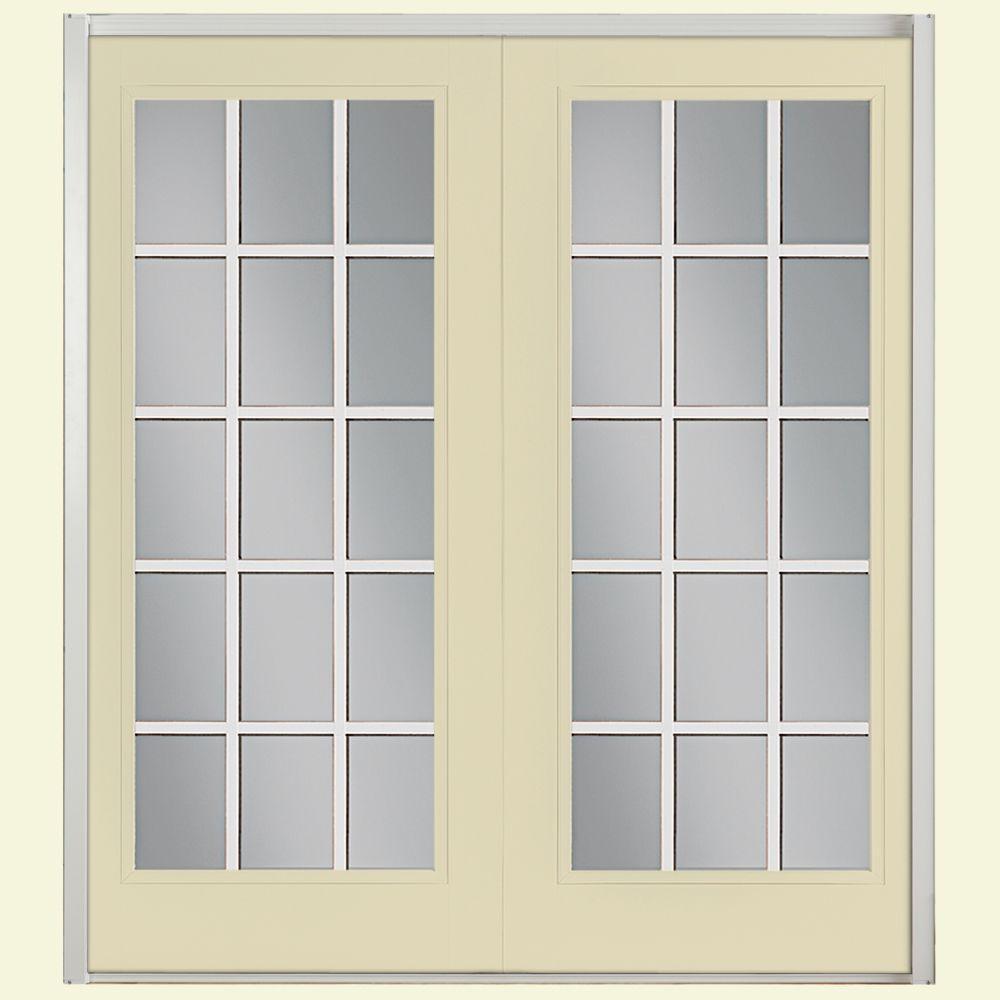 Prehung 15 Lite Steel Patio Door ...
