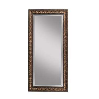 Cognac Ash Full Length Leaner Floor Mirror