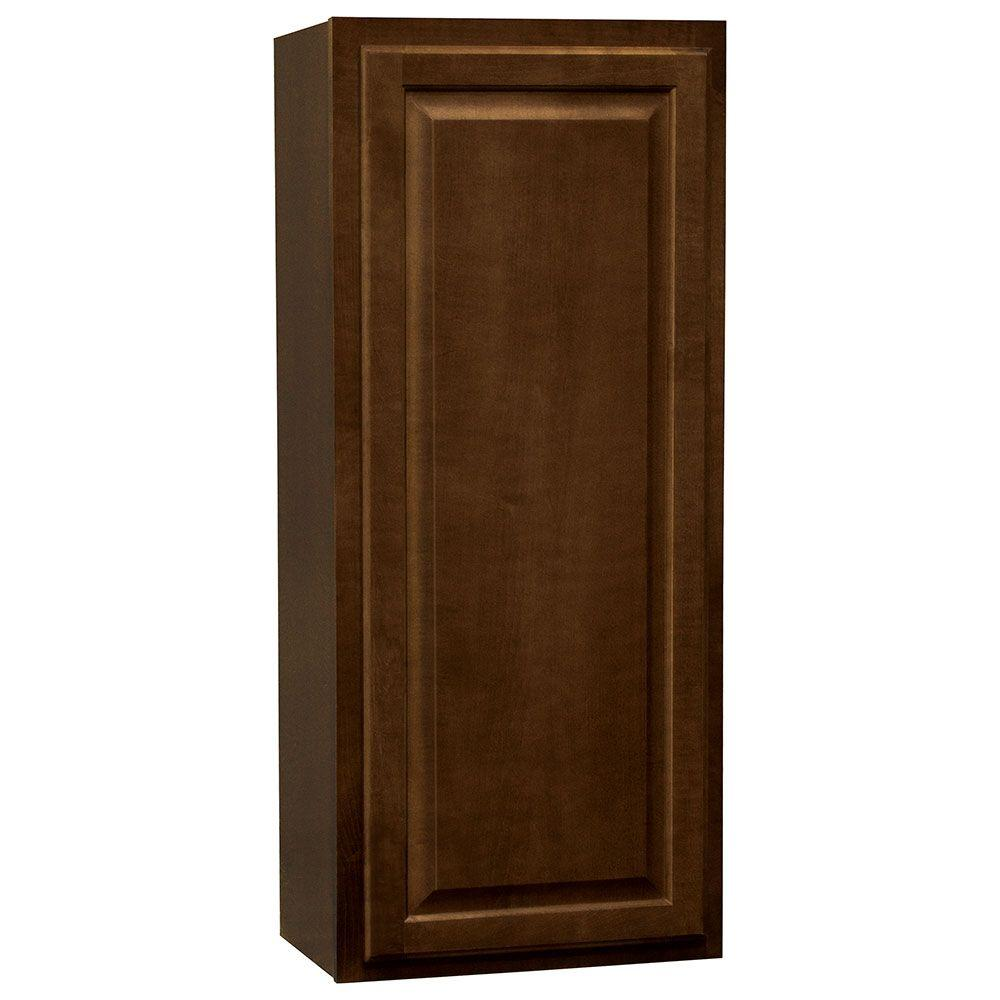 Hampton Assembled 18x42x12 in. Wall Kitchen Cabinet in Cognac