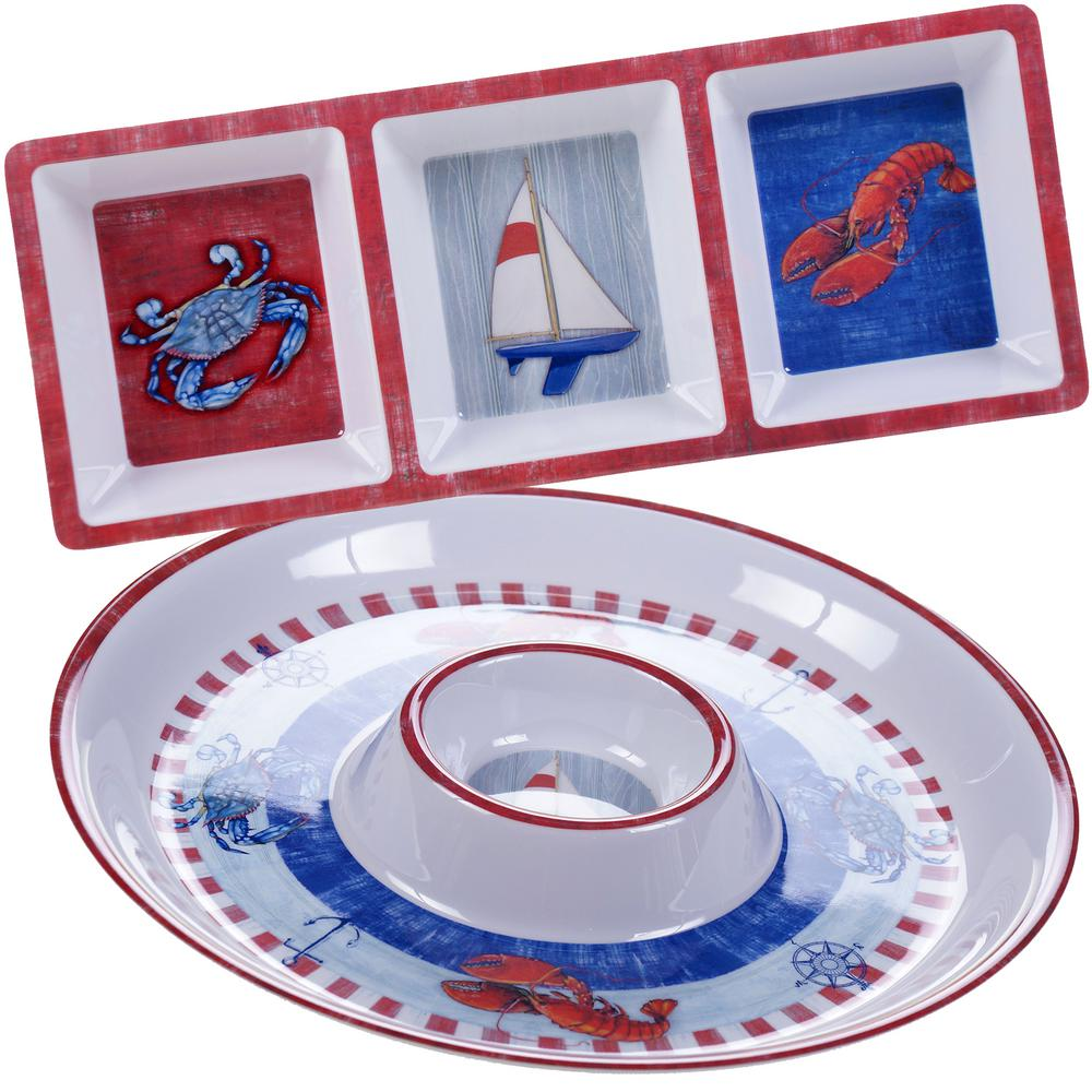 The Maritime Collection 2-Piece Appetizer Set