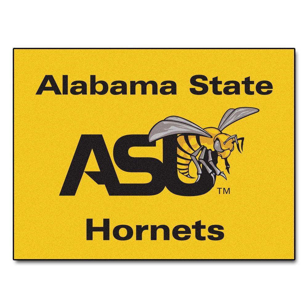 FANMATS NCAA Alabama State University Yellow 3 ft. x 4 ft. Area Rug