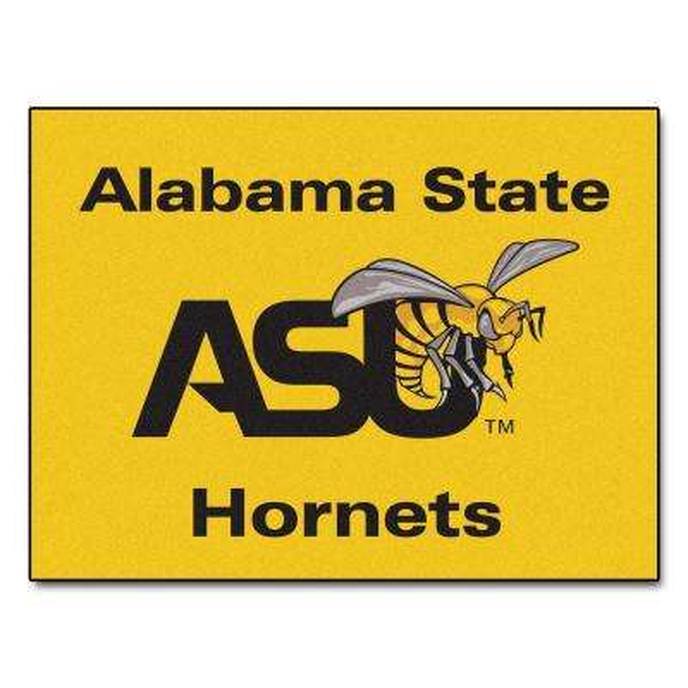 NCAA Alabama State University Yellow 3 ft. x 4 ft. Area Rug