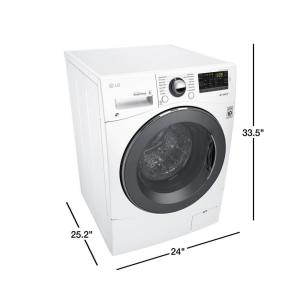 LG Electronics 2 3 cu  ft  High-Efficiency Front Load Washer in White,  ENERGY STAR