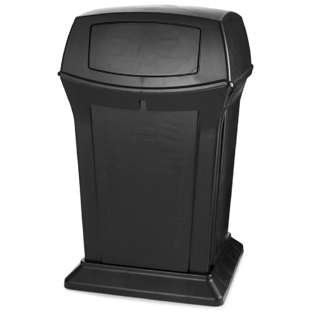Black 2 Door Trash Can