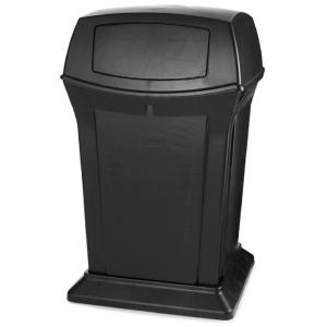 Rubbermaid Commercial Products Ranger 45 Gal. Black 2-Door Trash Can by Rubbermaid Commercial Products