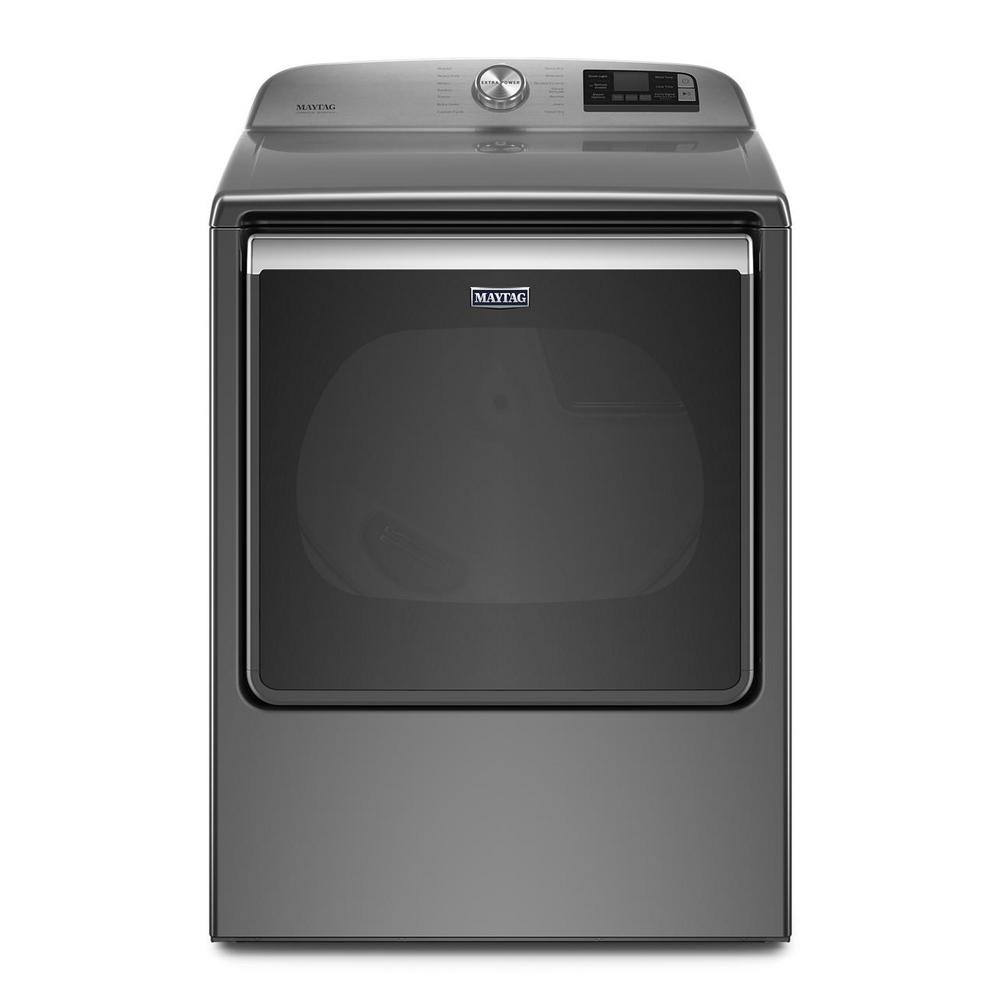 Maytag 8.8 cu. ft. 120-Volt Smart Capable Metallic Slate Gas Vented Dryer with Steam, ENERGY STAR