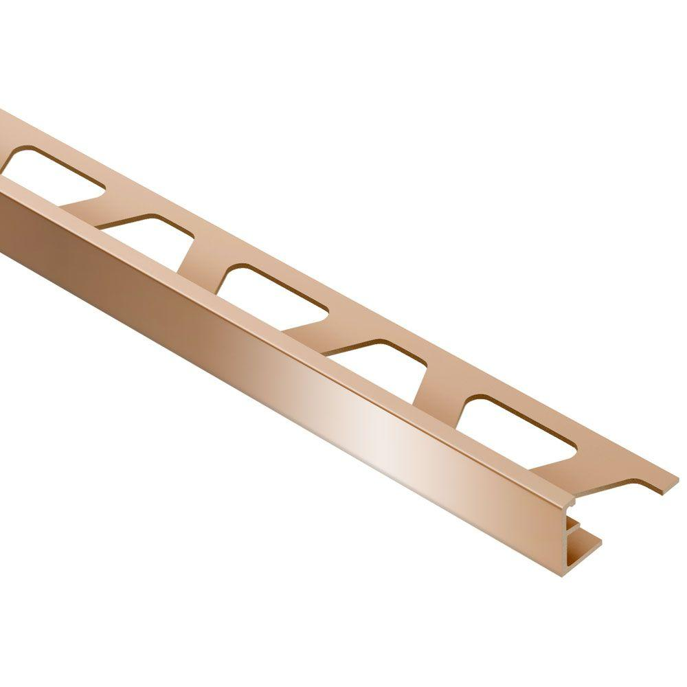 Schluter Schiene Bright Copper 5/16 in. x 8 ft. 2-1/2 in. Anodized Aluminum L-Angle Tile Edging Trim