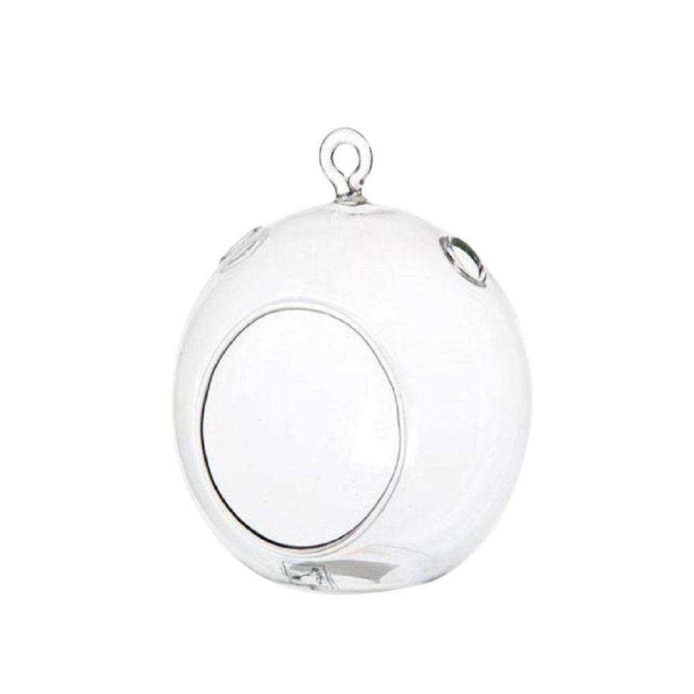 Decorative Clear Hanging Votive Candle Holder Glass Orb Shaped