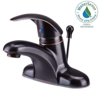 Vantage Collection 4 in. Centerset 1-Handle Bathroom Faucet in Oil-Rubbed Bronze