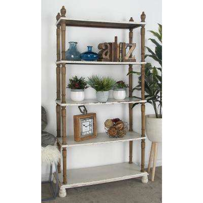 5-Tier Shabby Chic Shelving Unit