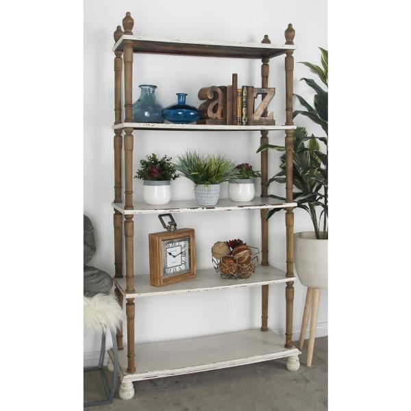 Litton Lane 5 Tier Shabby Chic Shelving Unit