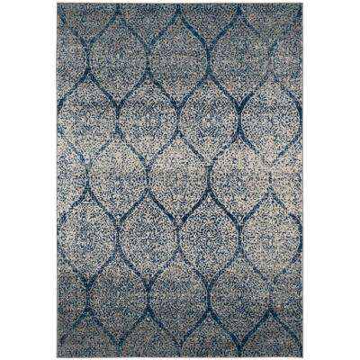 Madison Navy/Silver 5 ft. x 8 ft. Area Rug