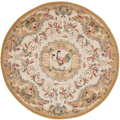 Chelsea Taupe 8 ft. x 8 ft. Round Area Rug